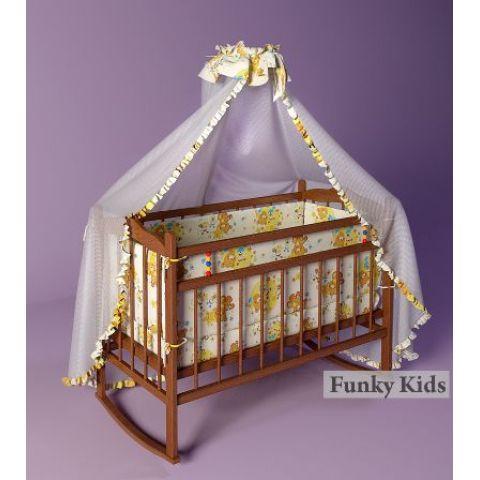 """Детская кроватка """"Фанки Литл"""" (качалка+колеса). Полный комплект"""