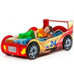Кровать-машина «Гонщик» красная