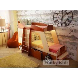 Детская двухъярусная кровать-машина «Джип»
