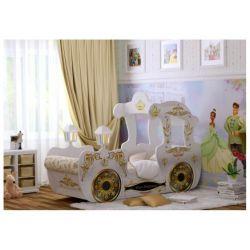 Кровать «Карета» белая