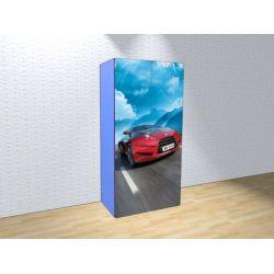 Детский шкаф двустворчатый «Турбо» (синий)