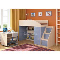 Кровать-чердак «Легенда-11» (с угловой лестницей и столом)