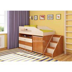 Кровать-чердак «Легенда-12» (с угловой лестницей и столом)
