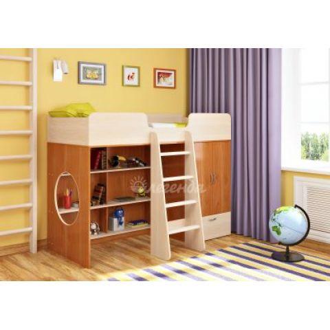Кровать-чердак «Легенда 3» (с прямой лестницей)