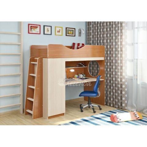 Кровать-чердак «Легенда-9» (с прямой лестницей)
