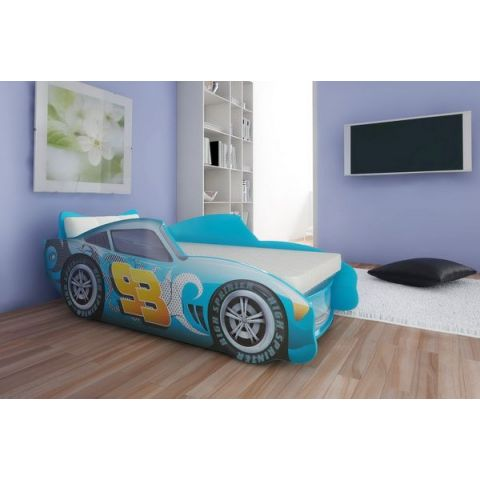 Кровать-машина «Топ Спид» голубой
