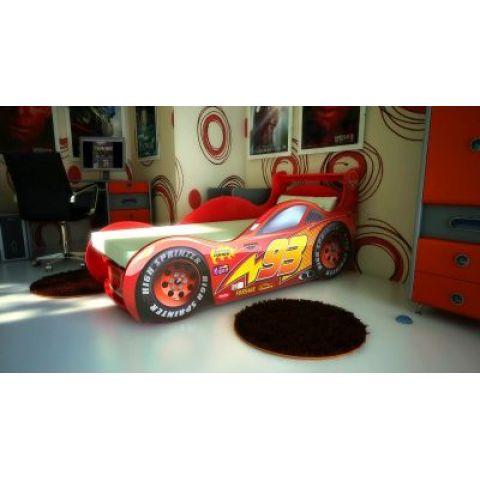 Кровать-машина «Молния» красная