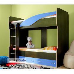 Детская двухъярусная кровать «Фанки Соло 4»