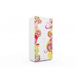 Детский шкаф двустворчатый «Конфета»