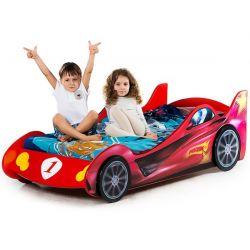 Кровать-машина «Ралли» красная