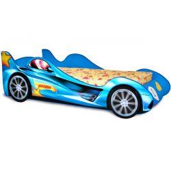 Кровать-машина «Ралли» синяя