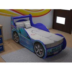 Кровать-машина «Шериф» синяя