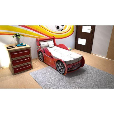 Кровать-машина «Шериф» красная