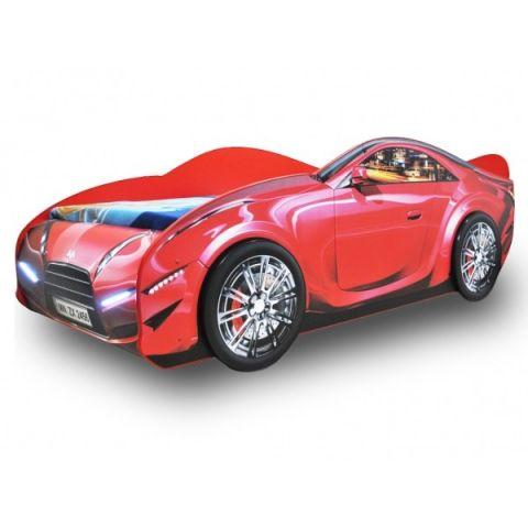 Кровать-машина «Турбо» красная