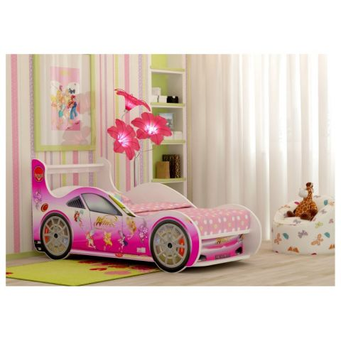 Кровать-машина «Winx с выдвижным ящиком»